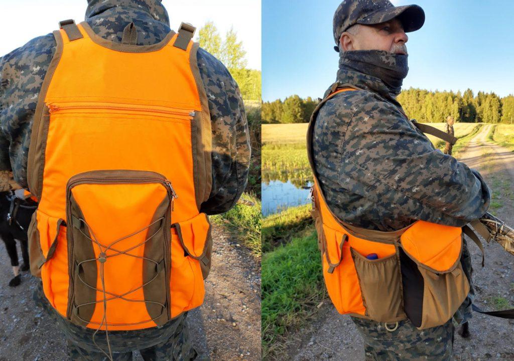 Tc hunting riistareppu takaa ja sivulta.